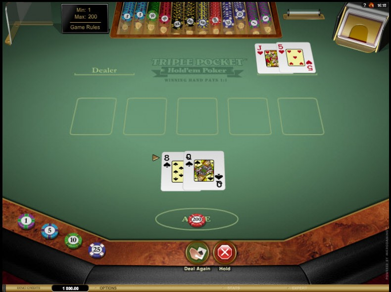 Triple Pocket Hold'em Poker MCPcom Microgaming3