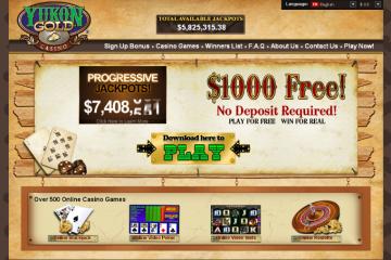 Yukon Gold Casino MCPcom home