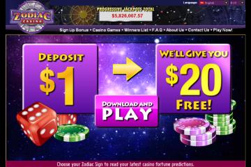 Zodiac Casino MCPcom home