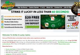 Strike It Lucky Casino MCPcom home