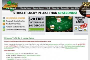 Strike It Lucky Casino MCPcom home