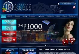 Platinum Reels Casino MCPcom home