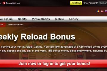 Jetbull Casino MCPcom bonus reload
