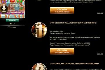 EuroGrand Casino MCPcom bonus