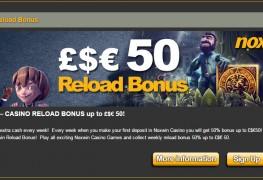Noxwin Casino MCPcom bonus reload