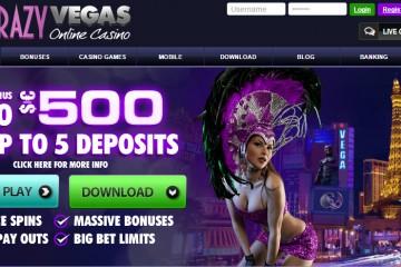 Crazy Vegas Casino MCPcom bonus