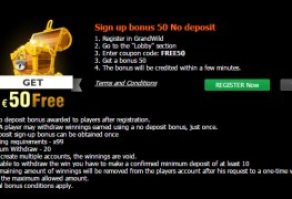 GrandWild Casino MCPcom bonus