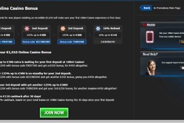 10Bet Casino MCPcom bonus
