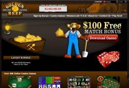 Golden Reef Casino MCPcom home
