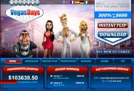 Vegas Days Casino MCPcom home