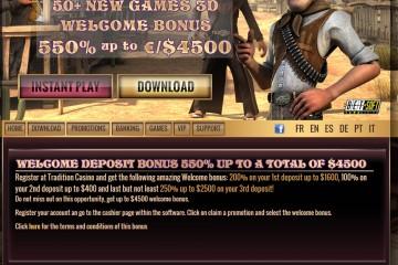 Tradition Casino MCPcom bonus
