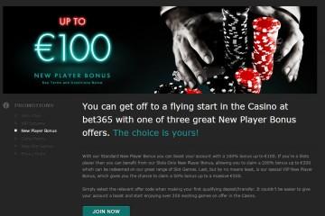 Bet365 Casino MCPcom bonus