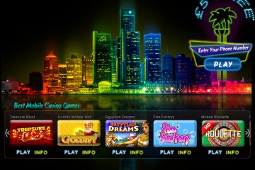 Vegas Mobile Casino Homepage