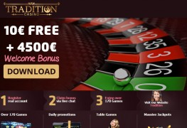 Tradition Casino MCPcom bonus