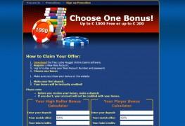 Lucky Nugget Casino MCPcom bonus