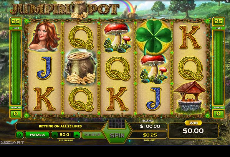 Jumpin' Pot Video Slots by GameArt MCPcom