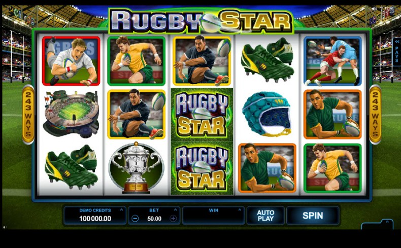Rugby Star Video slots by Microgaming MCPcom