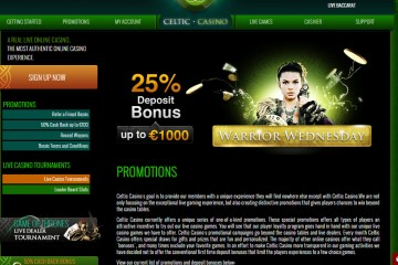 Celtic Casino MCPcom bonus
