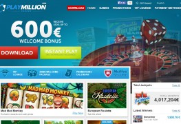 PlayMillion Casino MCPcom home