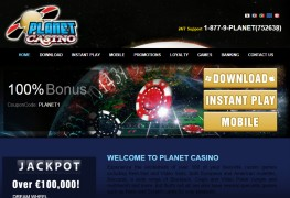 Planet Casino MCPcom home