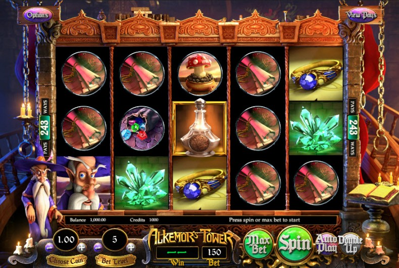 Alkemor's Tower Video slots by BetSoft MCPcom