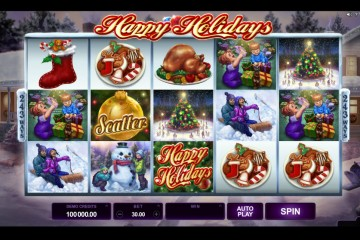 Happy Holidays Video slots by Microgaming MCPcom