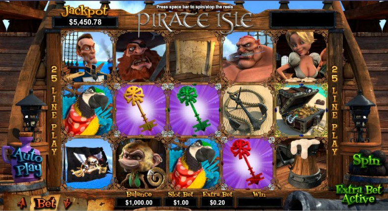 Pirate Isle Video Slots by Real Time Gaming MCPcom