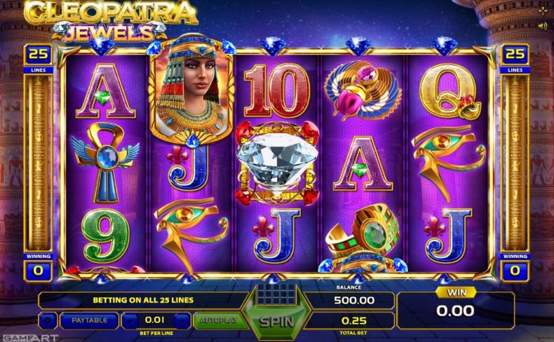 Cleopatra Video Slots by GameArt MCPcom