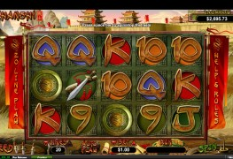 Zhanshi Video Slots by Real Time Gaming MCPcom