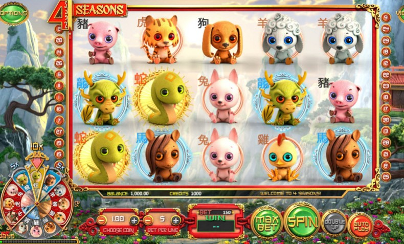 4 Seasons Video slots by BetSoft MCPcom