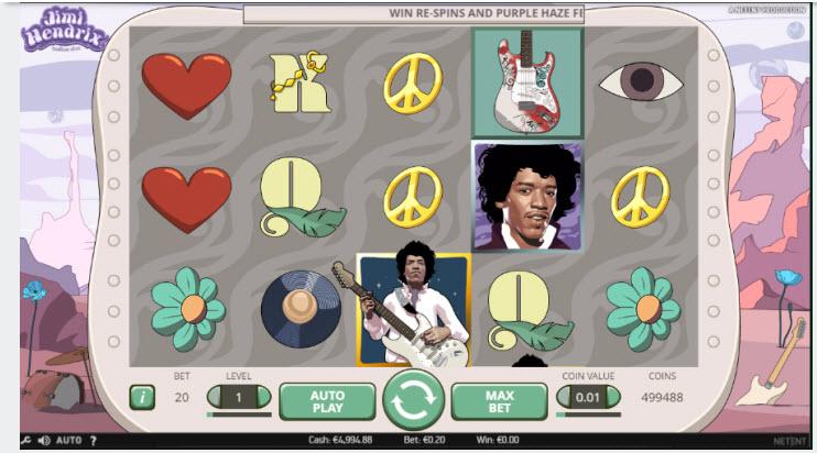 Jimi Hendrix Video Slot by Netent MCPcom