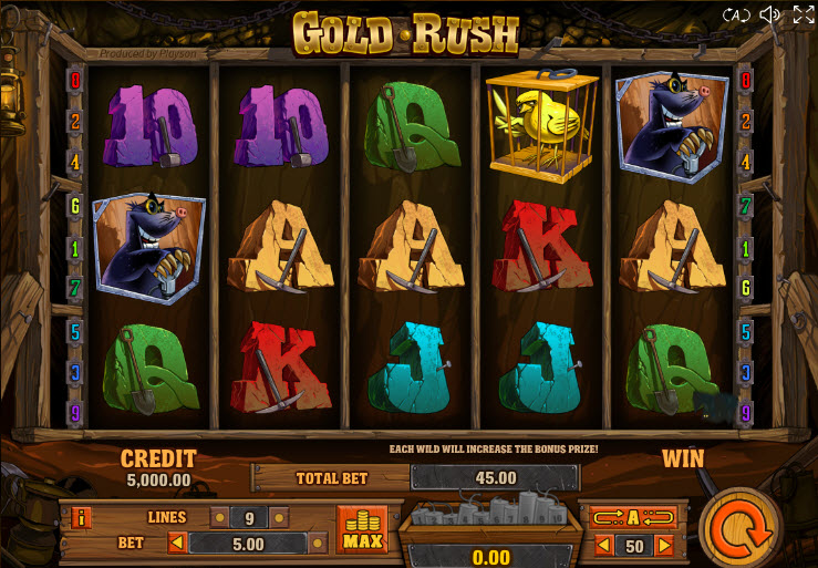Gold Rush Video Slots by Playson (Globotech) MCPcom