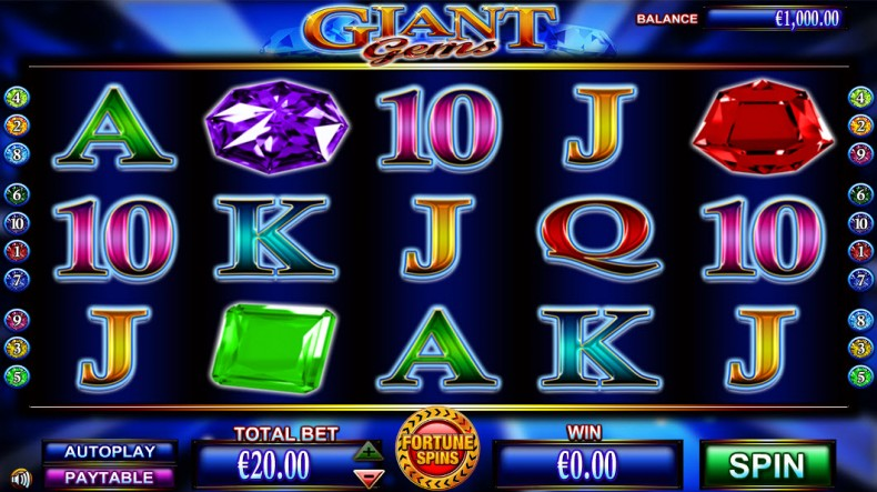 Giant Gems Video slots by NextGen Gaming MCPcom