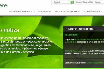 CODERE Spain homepage