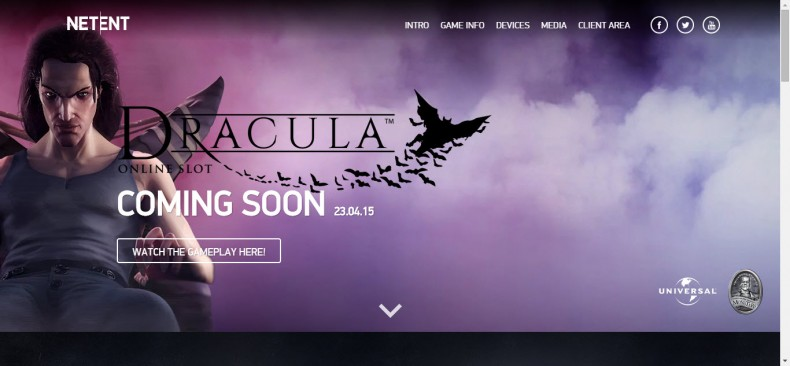 Dracula New Online Slot by NetEnt
