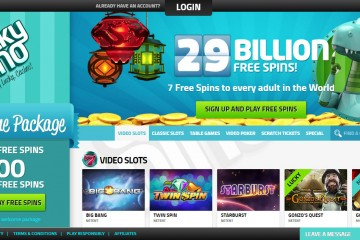 LuckyDino Main Page