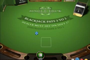 Single Deck Blackjack MCPcom NetEnt